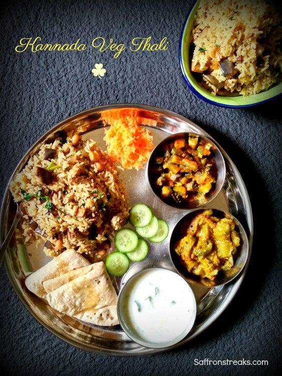 Karnataka Veg Thali Kannadiga Oota South Indian Meal Series