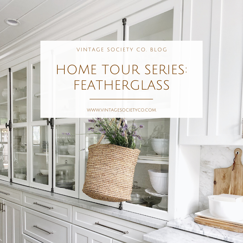 These home tour series are like Pinterest on steroids and we found the furniture refinishing queen! Take a look at this stunning home by Featherglass  #hometour #hometourseries #featherglass #myvintagesocietyco