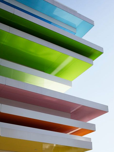 Rainbow Mille Feuille, Shimura Branch Of The Sugamo Shinkin Bank By  Tokyo Based, French Architect And Designer Emmanuelle Moureaux Www.