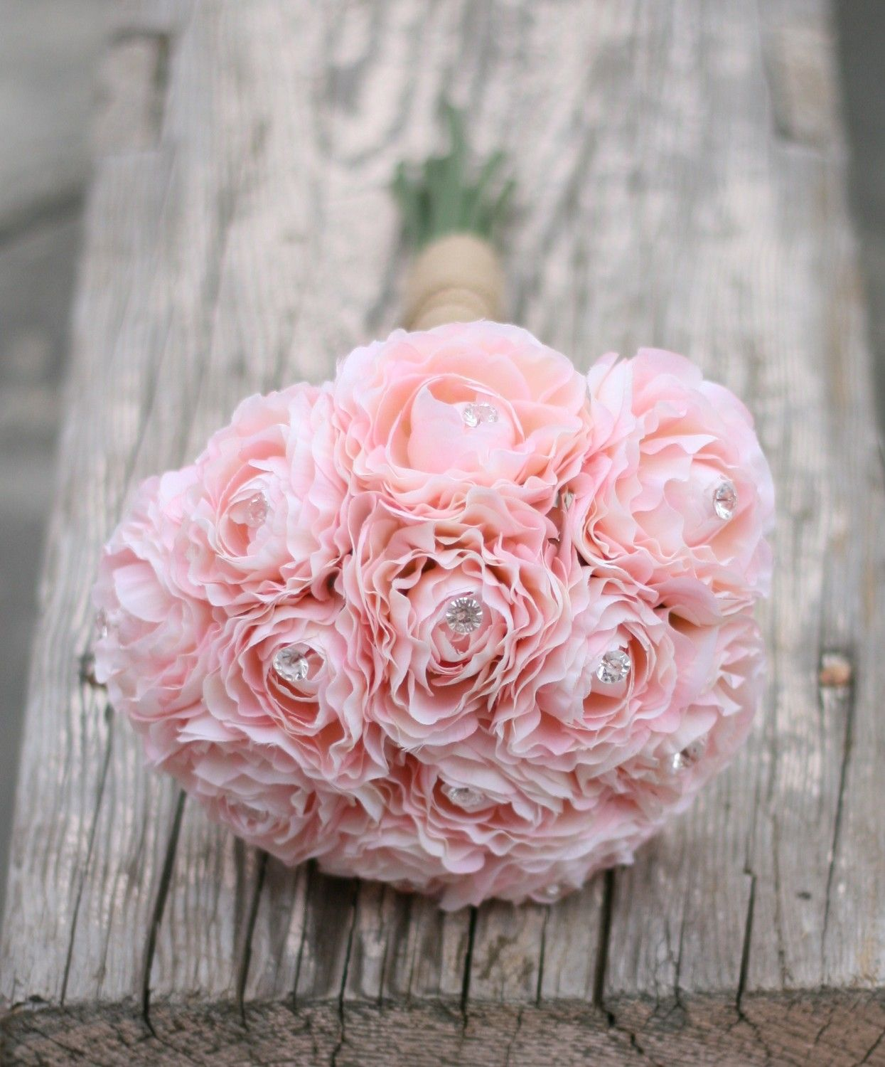 Bride Bouquet Cotton Candy Pink Ranunculus With by braggingbags