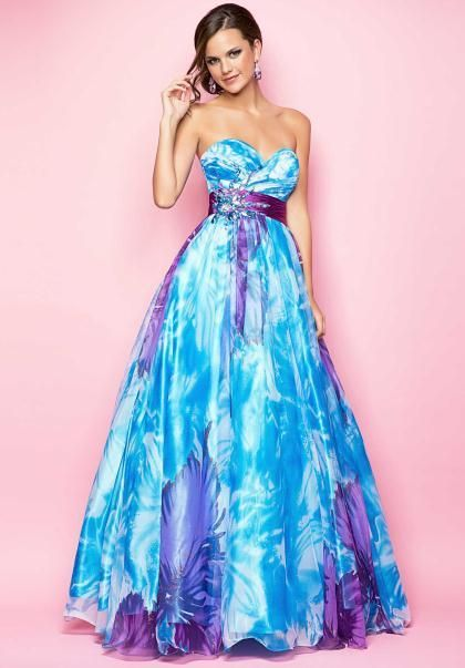 Sparkly Bridesmaid Dresses In Blue Or Purple Pink 1