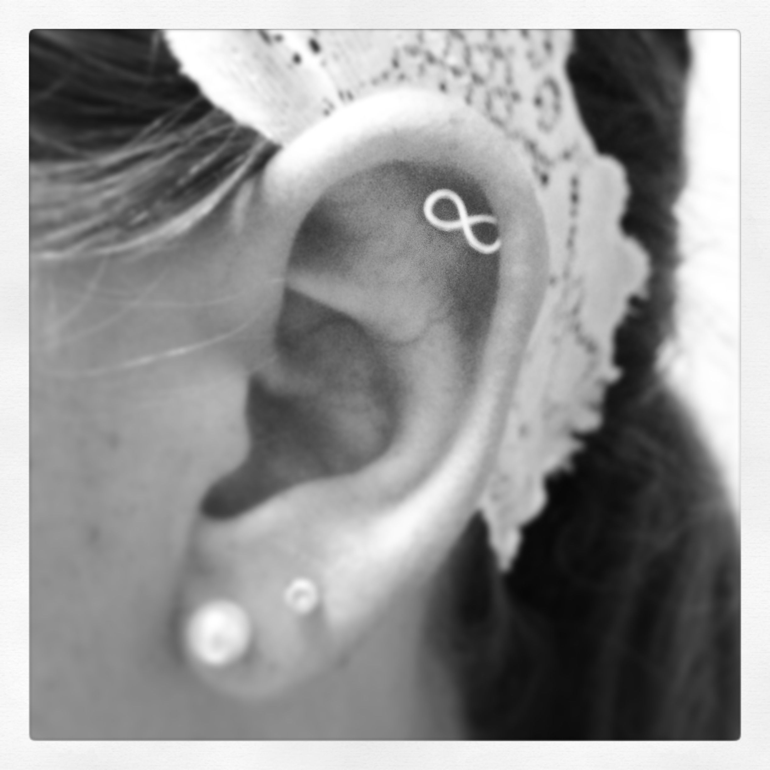 Nose piercing close up  infinity piercing earring for sure need an infinity cartilage