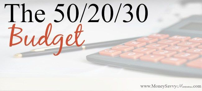 50/20/30 Budget Rule Budgeting, 50th and 30th