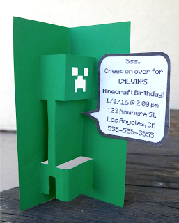 Free Diy D Popup Minecraft Creeper Svg Template For Cards Or
