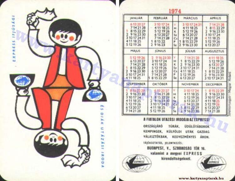 1974 - 1974_0478 - Régi magyar kártyanaptárak