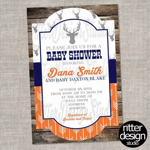 Rustic Deer Arrow Chic Baby Shower by RitterDesignStudio on Etsy