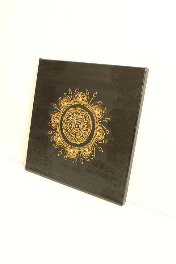 Henna Art CanvasHoliday GiftMandala ArtWedding $99 by LavenderHenna #etsy #etsyusa #lavenderhenna
