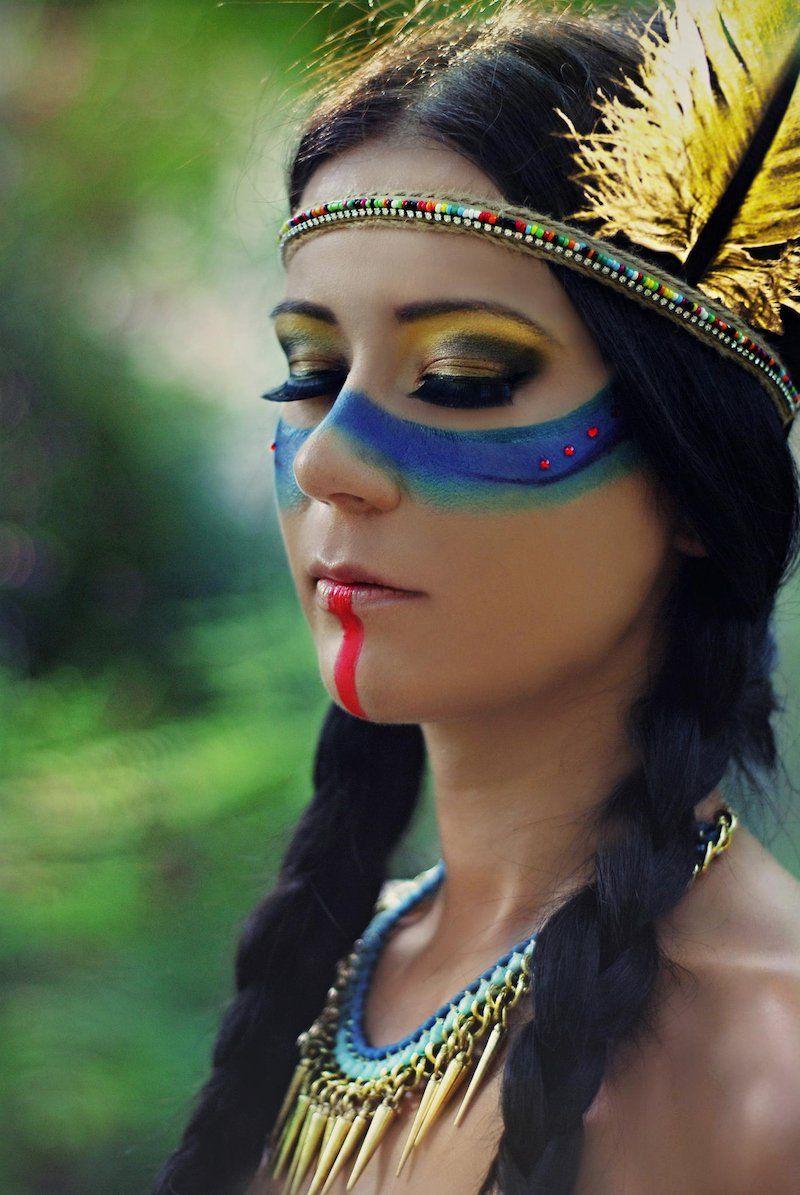 Maquillage Indienne D Amerique En 40 Idees Inspirees Par La Peinture