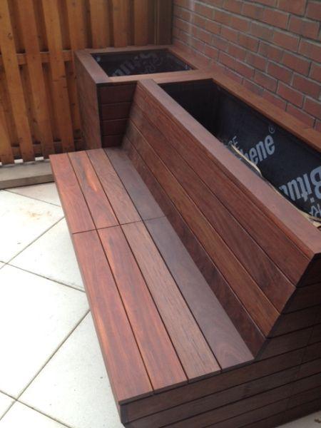 Ipe Planter and Storage Bench