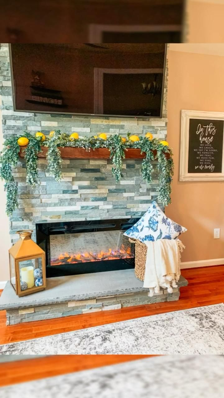 Summer DIY Fireplace Idea -   18 thanksgiving home decor ideas