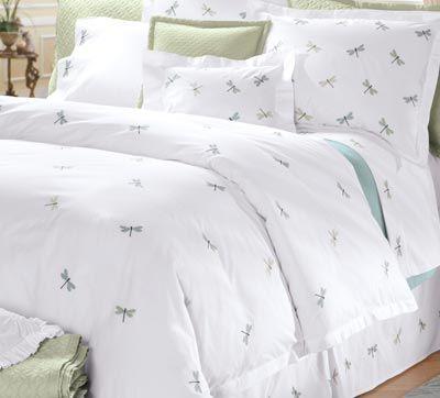 white elegant dragonfly home decor bedding for modern bedroom