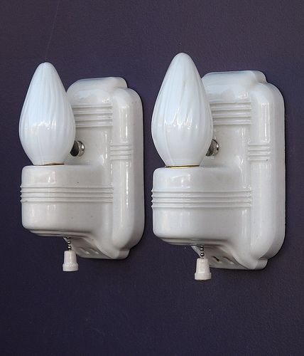 Photo of *Vintage Ribbed Wall Sconces | vintagelights.com