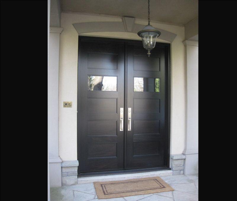 Double Entry Doors | Toronto Custom Wood Doors – Wood ...
