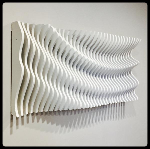 3d Wooden Wall Art Parametric Wave Wooden Wall Art Wooden Art Wood Wall Art