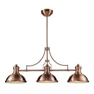 a kitchen island titan lighting chadwick 3 light antique copper ceiling 10058