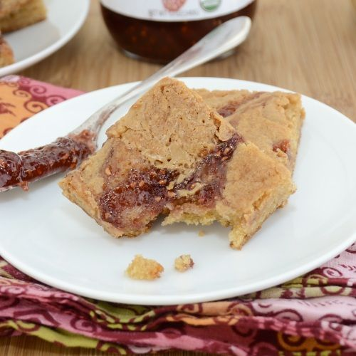 Peanut Butter and Jelly Swirl Blondies...Every kid's favorite sandwich in blondie form!