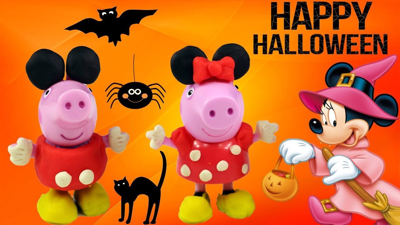 Peppa Pig Play-Doh Halloween Costume - Minnie Mouse Peppa Mickey ...