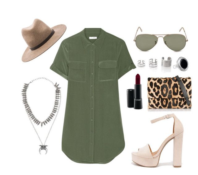 18 by tamor on Polyvore featuring moda, Equipment, Chinese Laundry, Lanvin, NOVICA, rag & bone, Ray-Ban and MAC Cosmetics