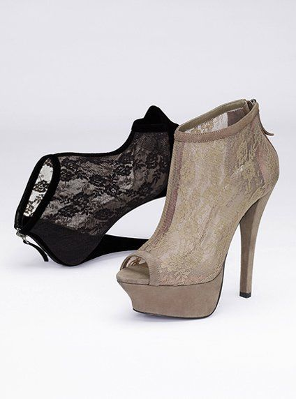 2df55b229c2c Lace Peep Toe Bootie - so wish I had the money for these! | Stylish ...