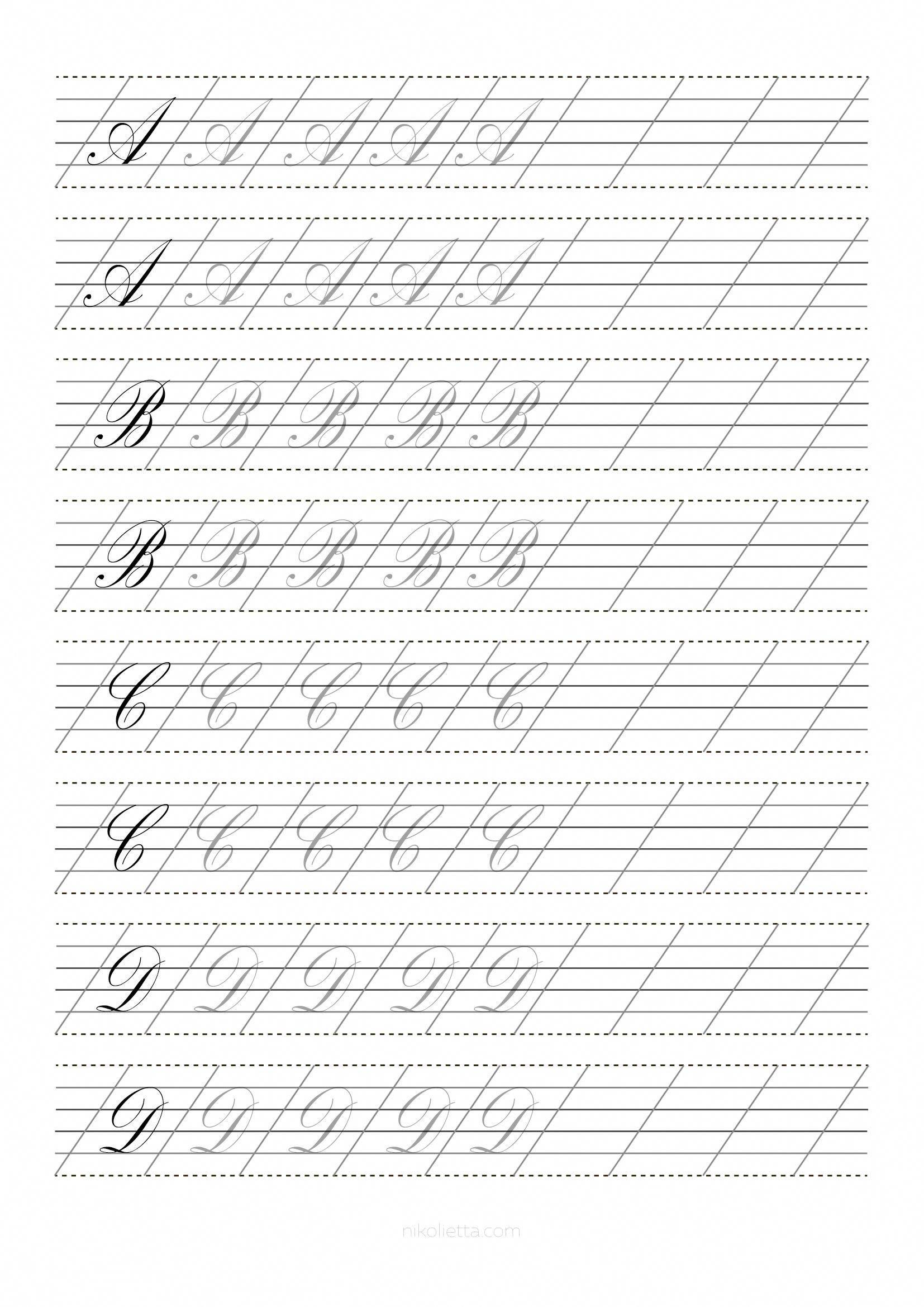 Script Caps A D Understandinghandwriting Ysis