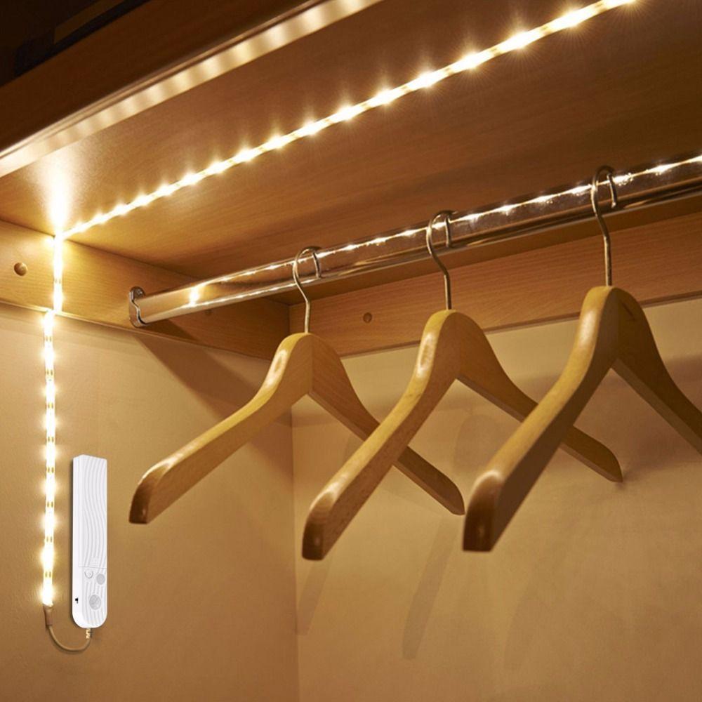Aliexpress Com Buy Wireless Motion Sensor Lamp Led Strip Under Bed Light Under Cabinet Light 1m 2m 3m Strip Lighting Motion Sensor Lights Led Strip Lighting