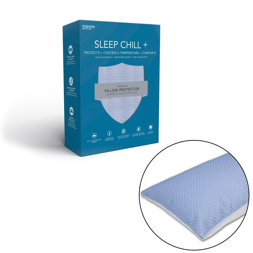 Sleep Chill Crystal Gel Pillow Protector With Cooling Fibers And