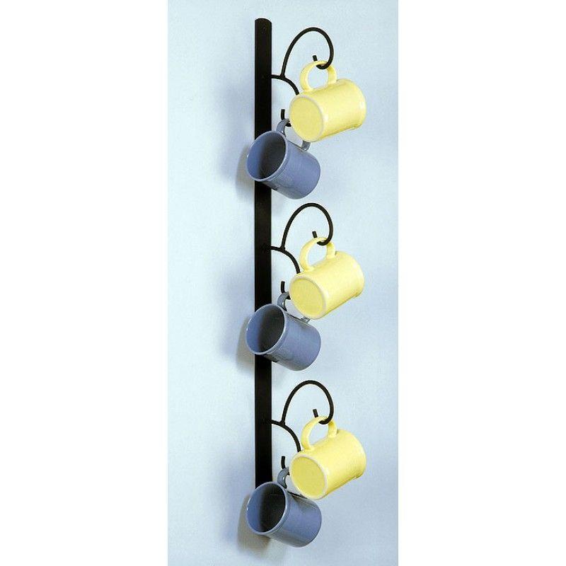 Wall Mounted Mug Rack Vertical Organization Storage In