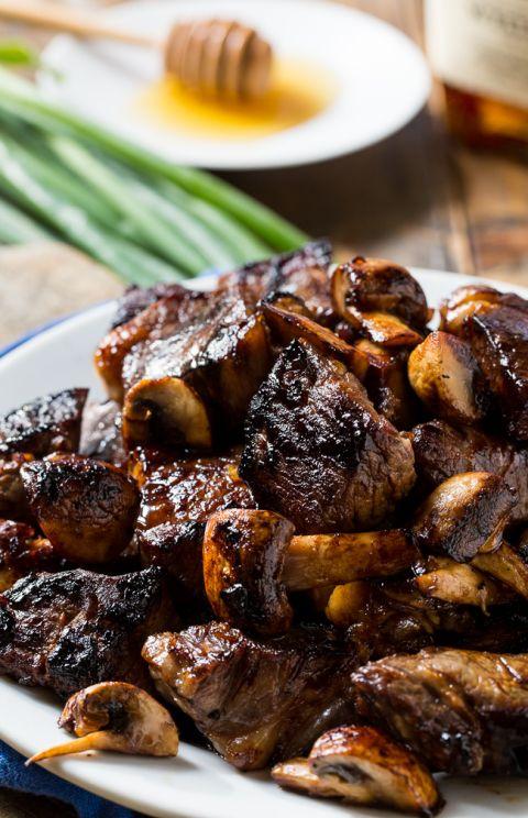 Honey Bourbon Steak Tips | Recipe | Food | Steak tips ...