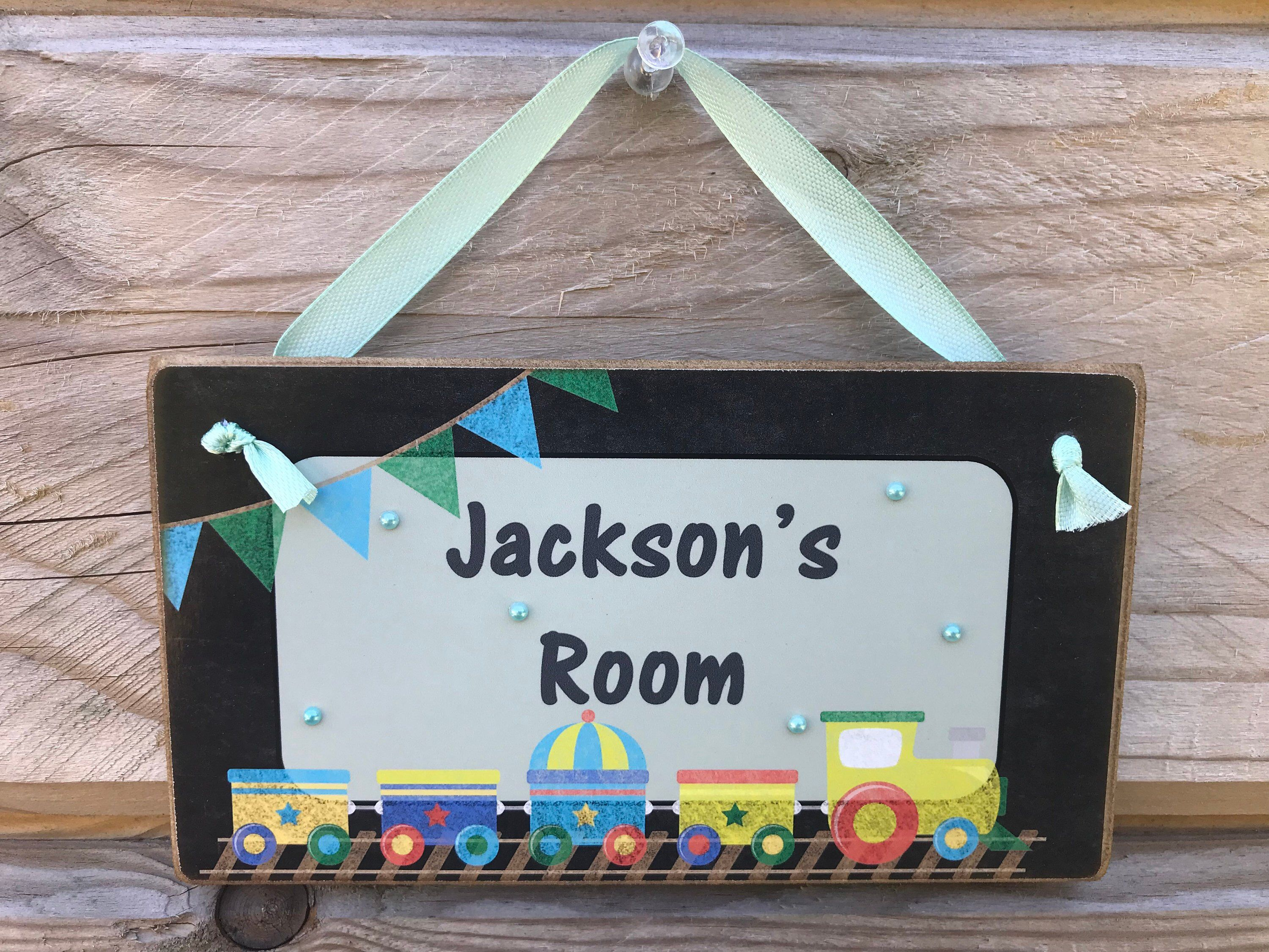Personalised Children S Chalkboard Style Toy Train Wooden