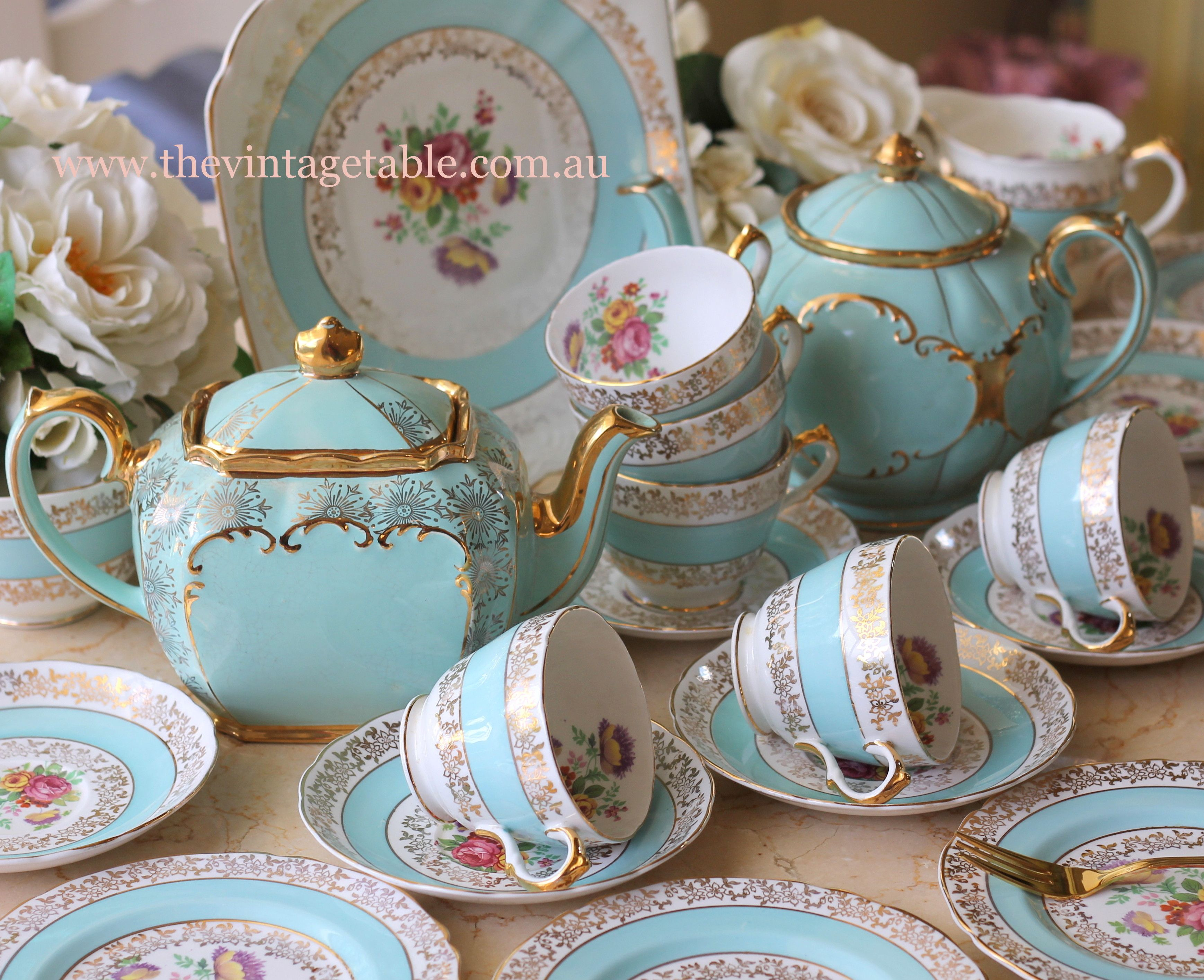 old fashioned vintage christmas chinaware