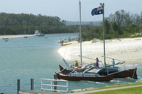 Sailing out of Currambene Creek, Huskisson