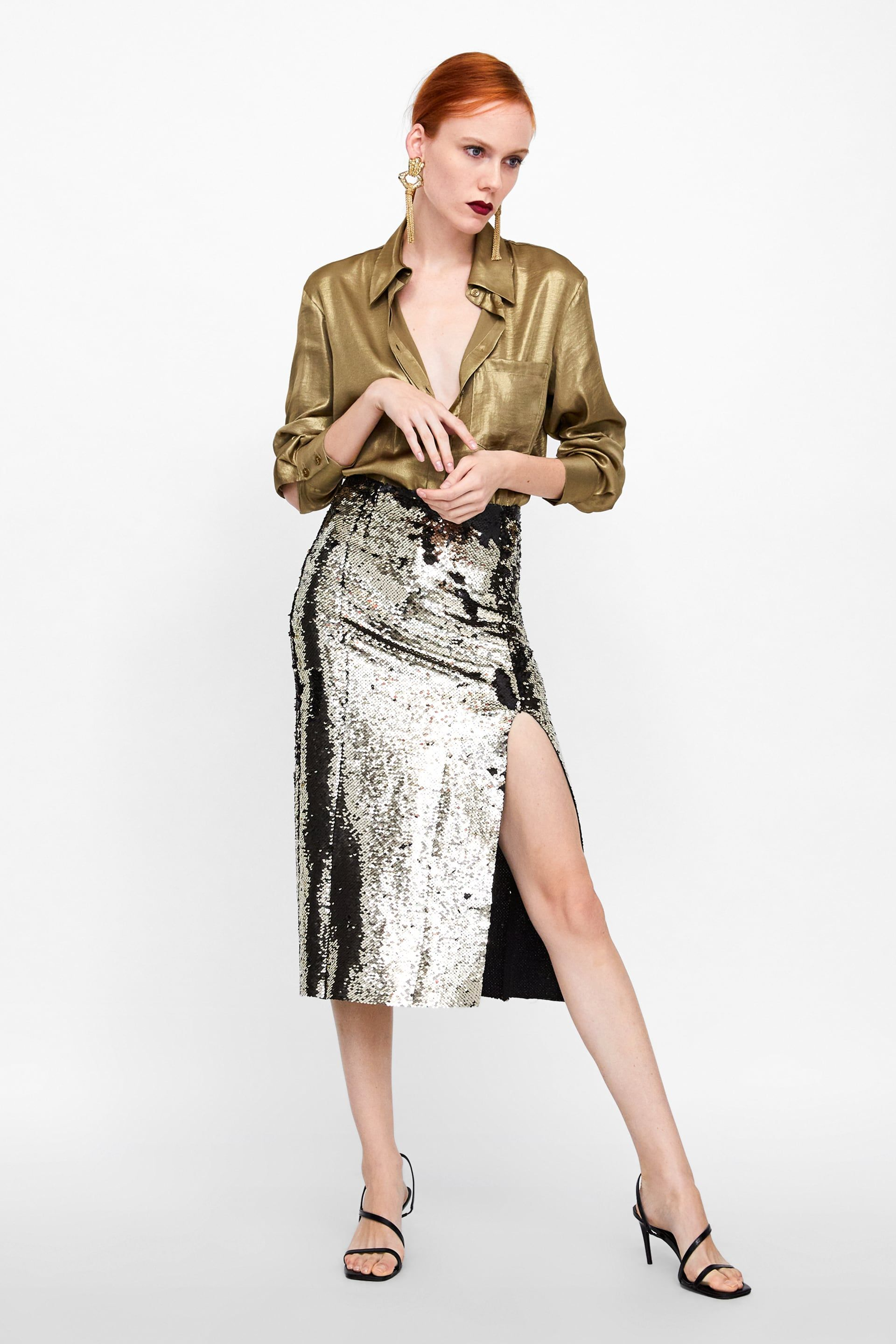 74574f0cb Sequin Skirt SHIRT DRESS from Zara | when you wish upon a ...