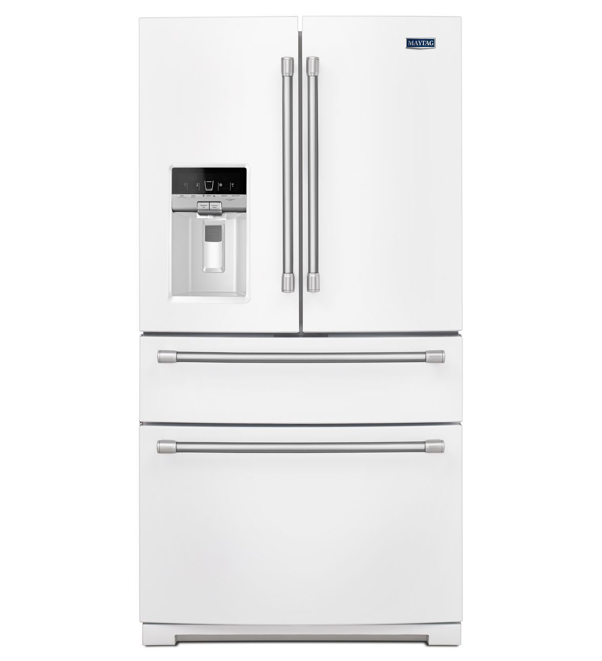 Maytag White 4 Door French Door Refrigerator With Steel Shelves