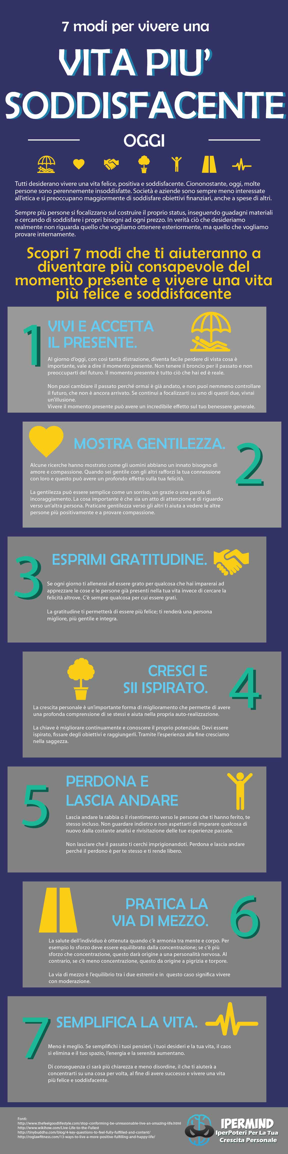 7 modi per vivere una vita soddisfacente   IperMind