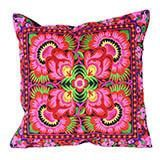 Vintage Embroidery Pillow case Cushion Cover Ethnic National Handmade Flower Embroidered Boho 40x40cm