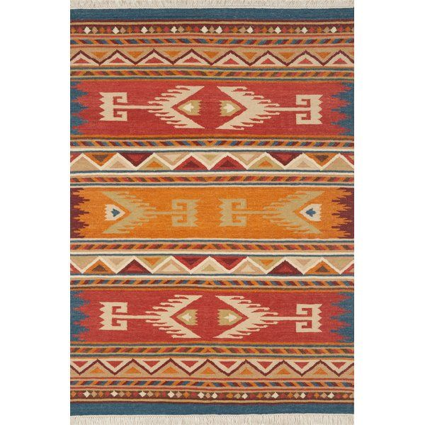 The Lodge Collection Features Traditional Southwestern And Tribal Designs Using Vibrant Yellow Orange Blue Brown Green A Wool Area Rugs Area Rugs Woven Rug