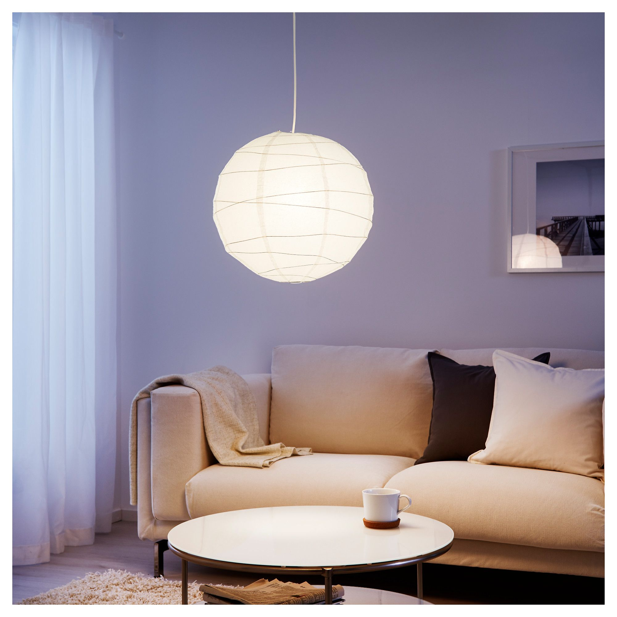 Regolit pendant lamp shade white 45 cm pendant lamps lighting ikea regolit pendant lamp shade each handmade shade is unique mozeypictures Images