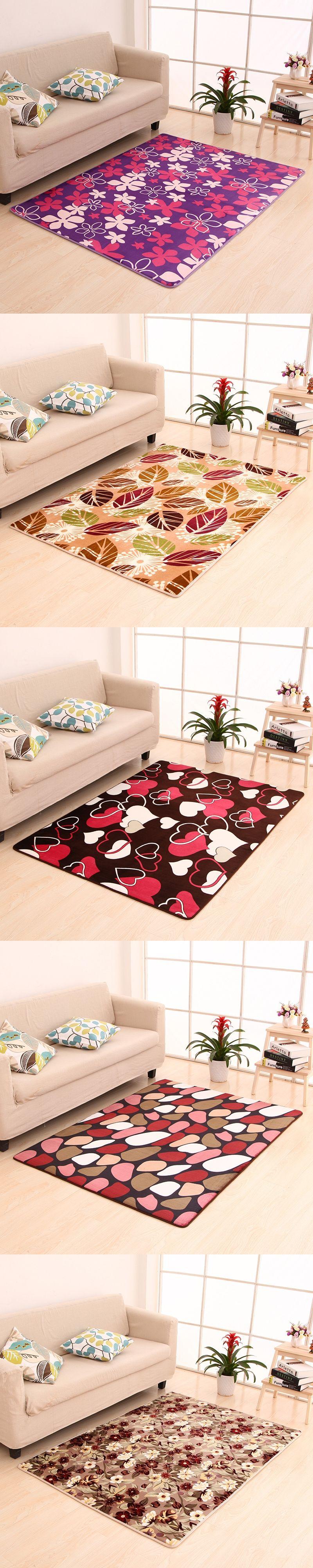 sizes carpet livingroom modern art coral fleece floor mat bedroom