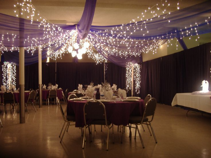 Tulle and icicle lights- looks elaborate but really simple. Possibly ...