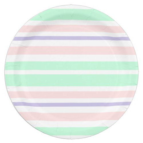 sc 1 st  Pinterest & Pastel Green Pink and Purple Striped Paper Plates