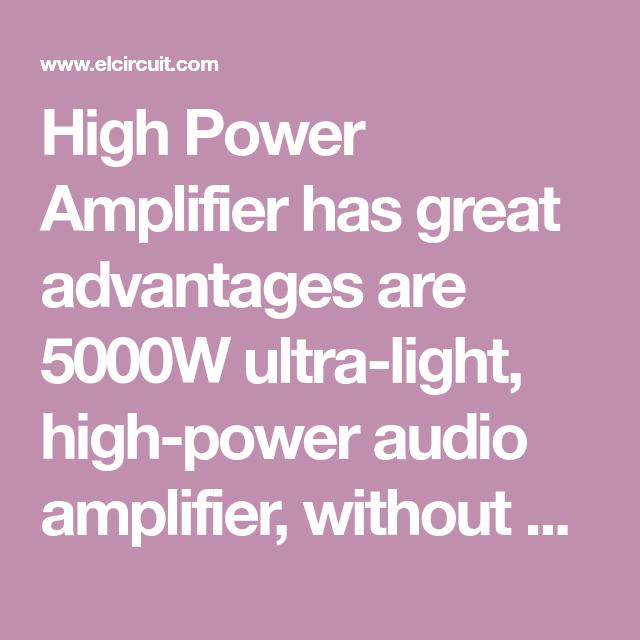 5000W High Power Amplifier Audio Circuits | Power ...