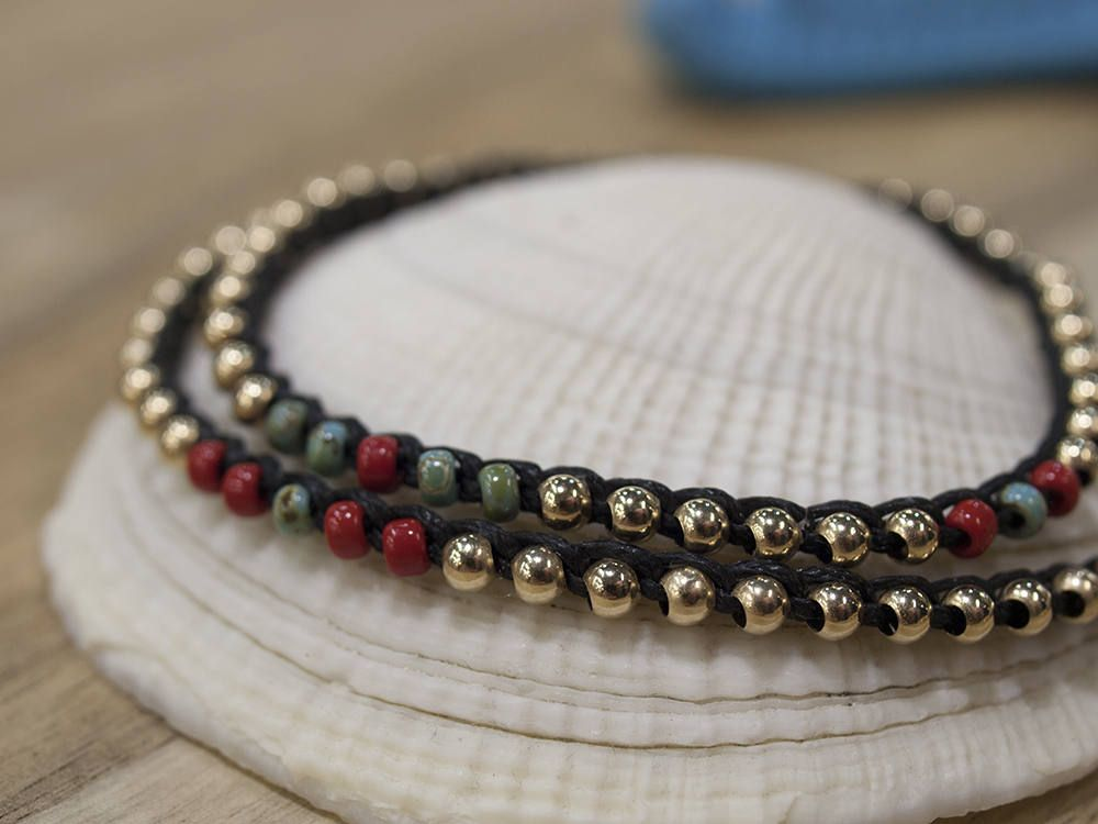 Boho Wrap Bracelet, Gold Filled Bracelet, Black Bracelet, Bead Wrap Bracelet, Layered Bracelet, Bracelet Set, Short Necklace, Best Friend by AdiliArt on Etsy