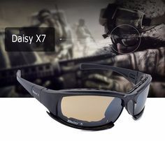 15334c9f14 2016 New Daisy X7 Glasses Military Polarized Goggles Bullet-proof Army  Sunglasses With 4 Lens