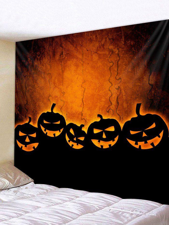 Halloween Pumpkin Tapestry Wall Art Home Decor Tapestry Wall Art