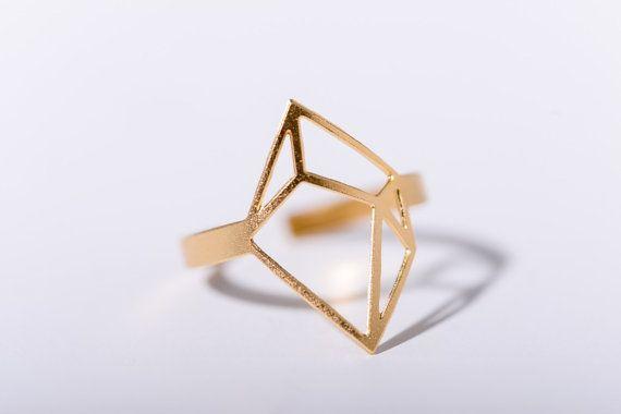 MIZYAN's large cubic ring, geometric rings, geometric accessories