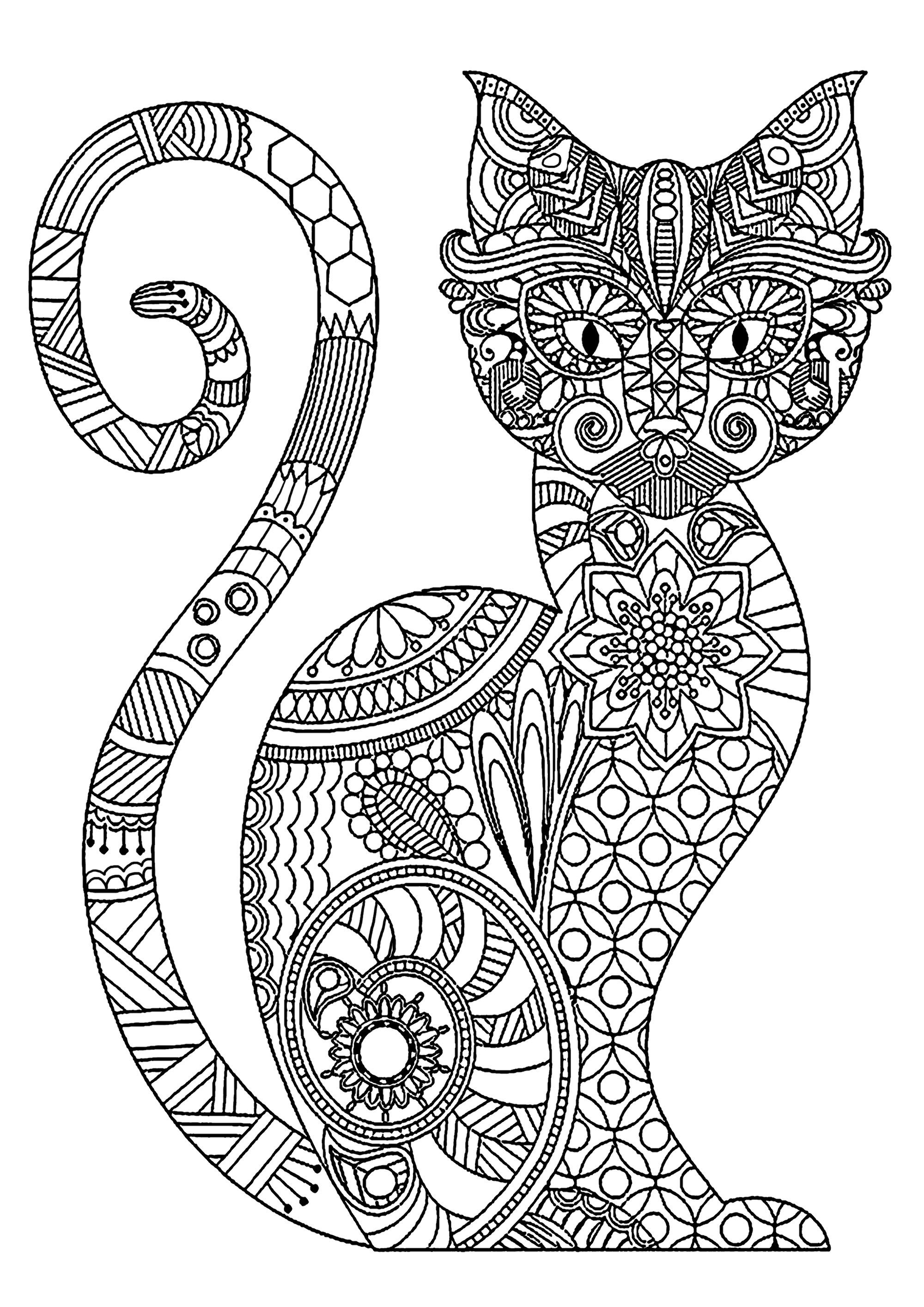 Cat Coloring Pages for Adults - Best Coloring Pages For Kids | Cat coloring  book, Cat coloring page, Kitten coloring book