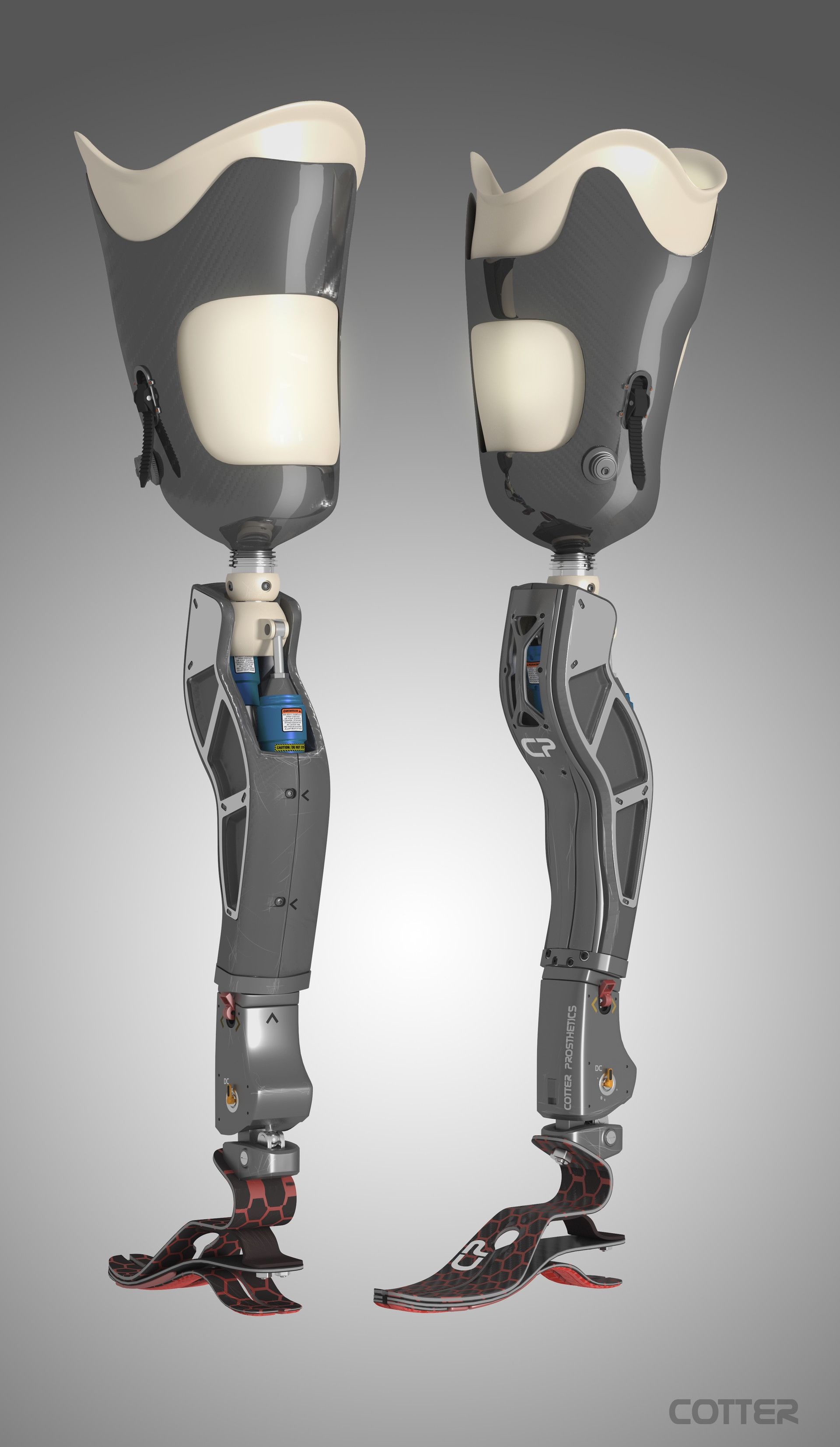 artstation prosthetic leg joshua cotter scifi