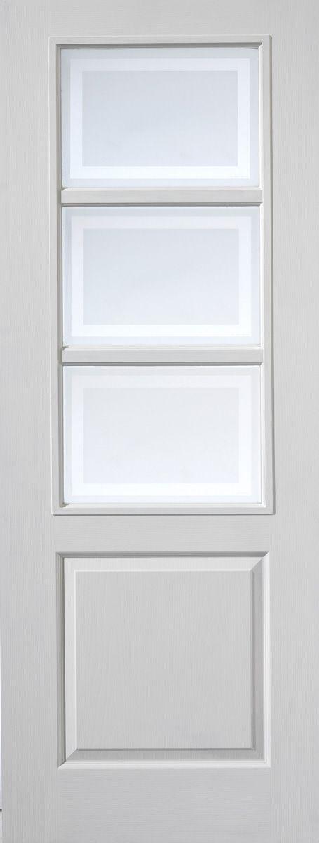 4 Panel White Interior Doors glazed internal white door with moulded panel (andorra) | white