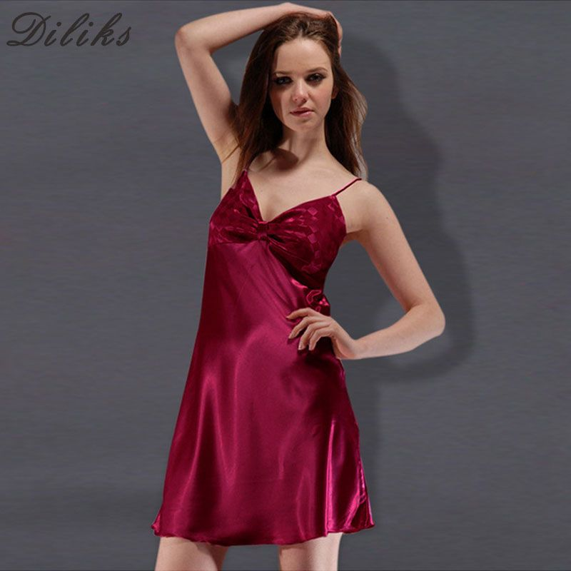 Diliks 2017 Summer Style sleep Dress Nightgowns Women Female Sleep ...