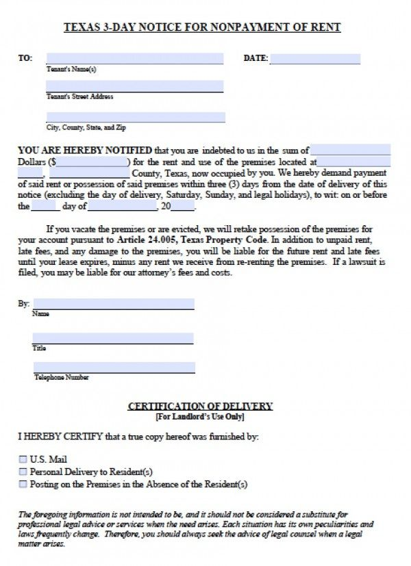 Printable 3 Day Eviction Notice Printable Editable Blank – Eviction Forms Free